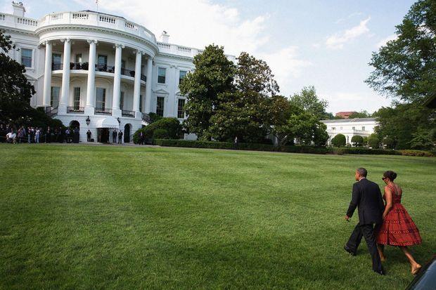 Avec Michelle, une First Lady « maman et chef » qui sera d'un soutien sans faille. Juin 2014.