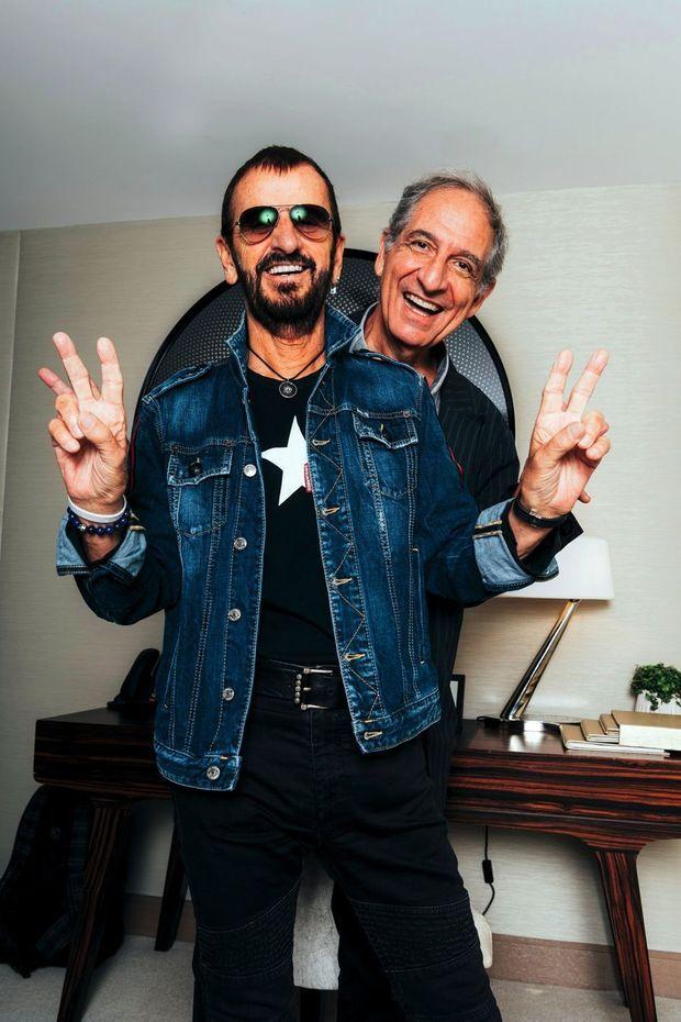 Avec Ringo Starr