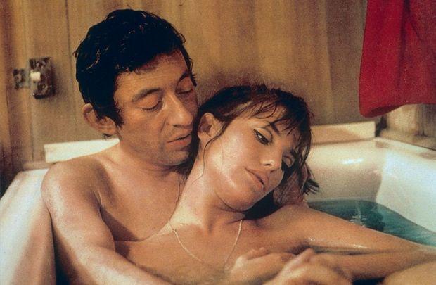 Avec Serge Gainsbourg, en 1968, dans le film Slogan.