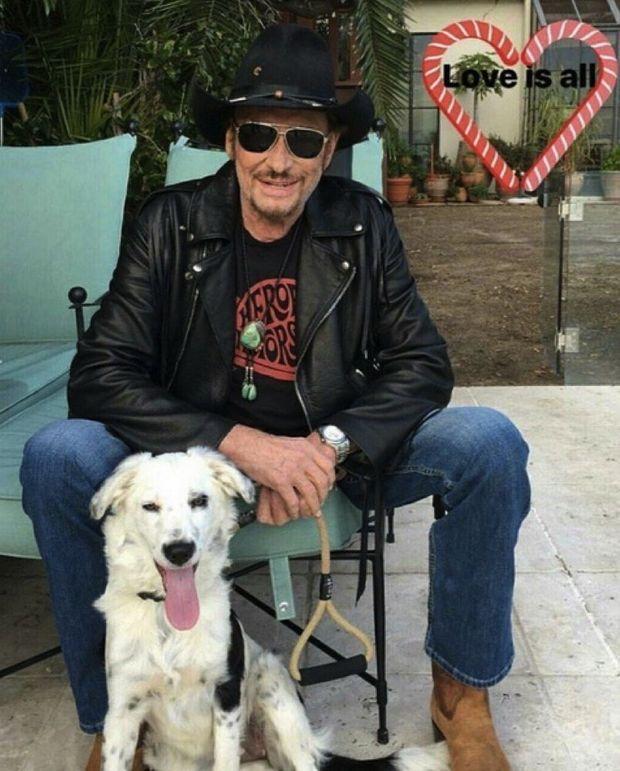 Avec son chien Cheyenne