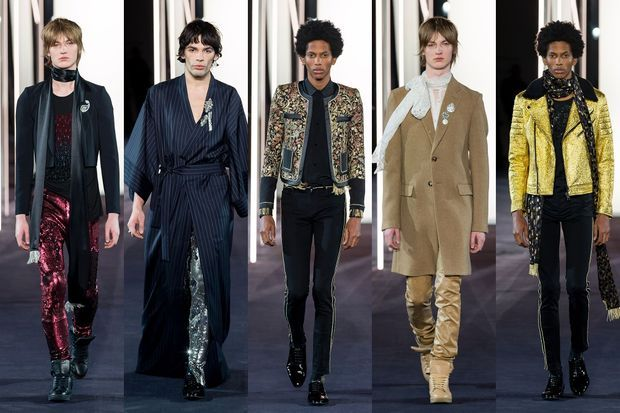 Quelques looks masculins de la collection Azzaro.