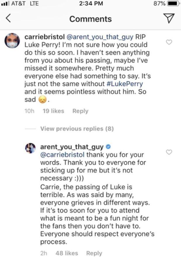 Brian Austin Green répond à une fan au sujet de la mort de Luke Perry le 15 mars 2019