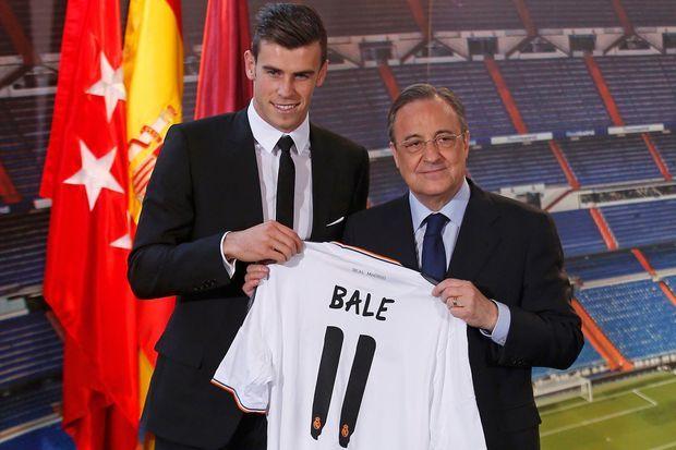 Gareth Bale arrive au Real Madrid en 2013 contre 100 millions d'euros.