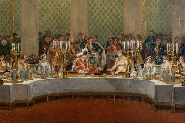 Le banquet de mariage de Napoléon Ier et Marie-Louise, par Casanova (Musée du château de Versailles, dépôt au château de Fontainebleau)