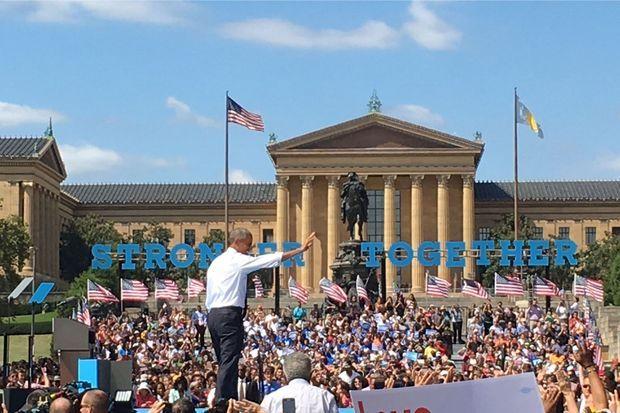 Barack Obama, mardi à Philadelphie