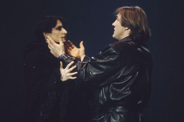 Barbara et Gérard Depardieu, avec qui elle avait façonné la comédie musicale « Lily passion »