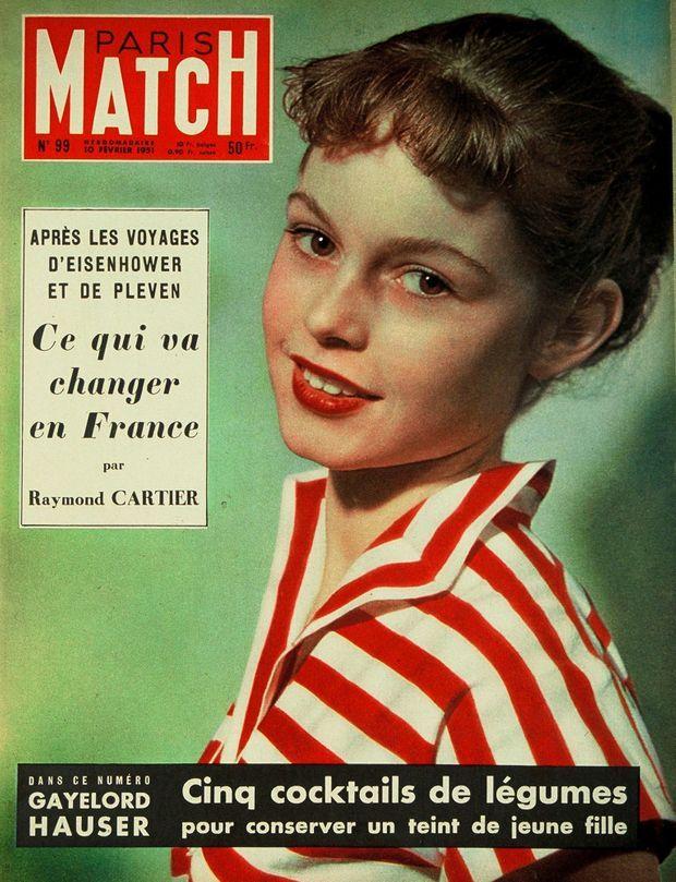 Brigitte Bardot pour la première fois en couverture de Paris Match n° 99, daté 10 février 1951.