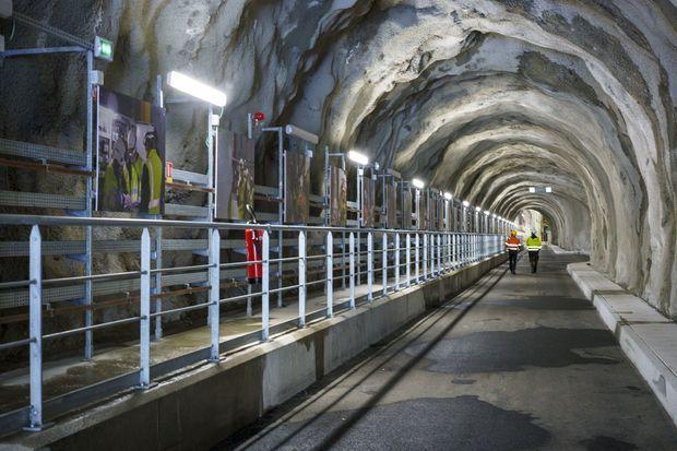 A l'intérieur du barrage de Romanche-Gavet, le 5 octobre.