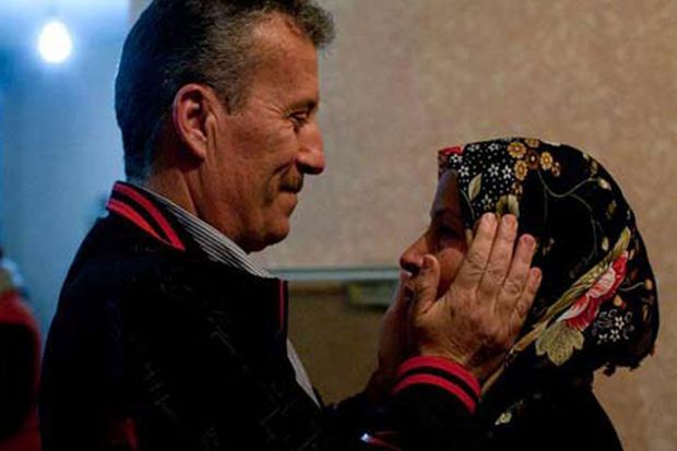 Bassem Tamimi et son épouse, le 10 février dernier.