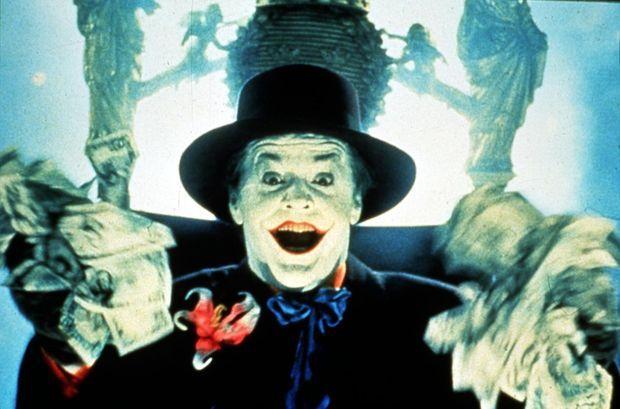 «Batman» avec Jack Nicholson dans le rôle du Joker, réalisé par Tim Burton en 1989.