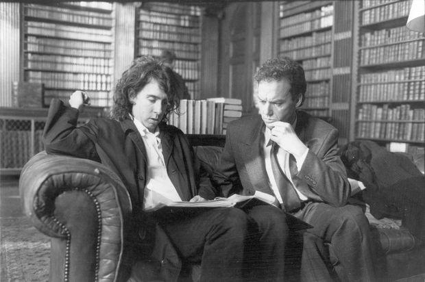 Tim Burton et Michael Keaton sur le tournage de «Batman» en 1989.