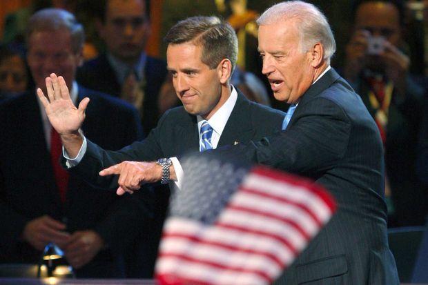 Beau et Joe Biden, en août 2008.