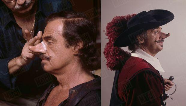 Chaque soir, il fallait une demi-heure au maquilleur Charly Koubesserian pour fixer le fameux nez de Cyrano.