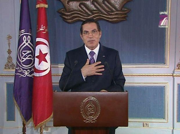 La dernière comédie de Ben Ali se joue le jeudi 13 janvier. Sur TV7, il s'adresse au peuple tunisien.