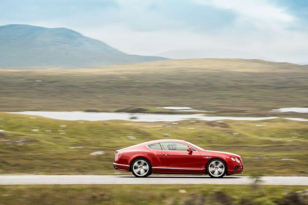 La Bentley Continental GT Speed affiche un tempérament nettement plus sportif.