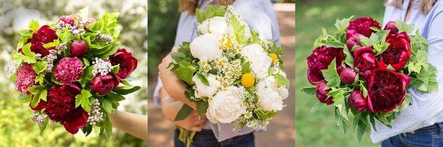 Les bouquets Valence, Eygalières et Jaipur, par Bergamotte.