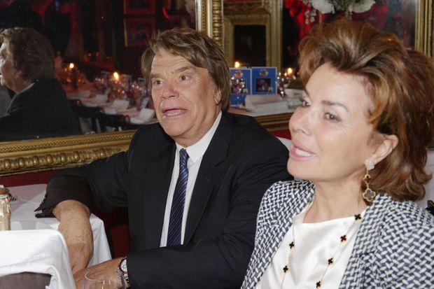 Bernard Tapie et son épouse, Dominique, Chez Michou en 2016.