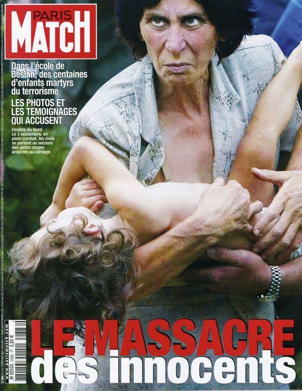La tragédie de Beslan en couverture de Paris Match n°2886, 9 septembre 2004