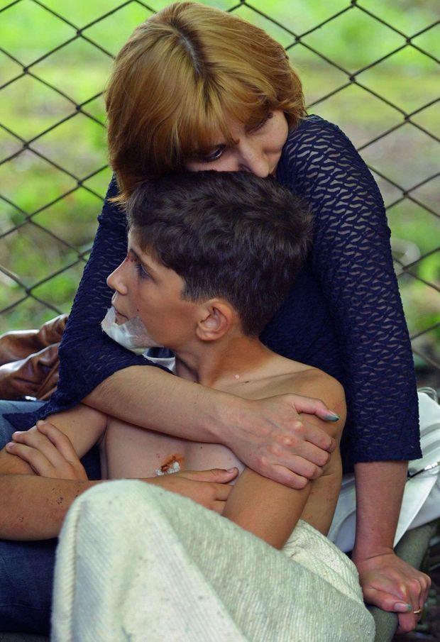 Après l'assaut des forces de sécurité contre les preneurs d'otages de l'école de Beslan.