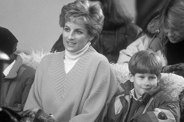 Diana et Harry en 1994 lors d'un voyage en Autriche