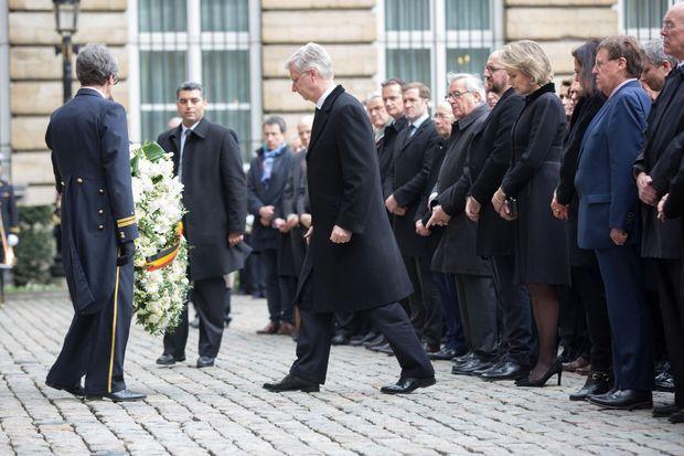 La reine Mathilde et le roi Philippe de Belgique à Bruxelles, le 24 mars 2016