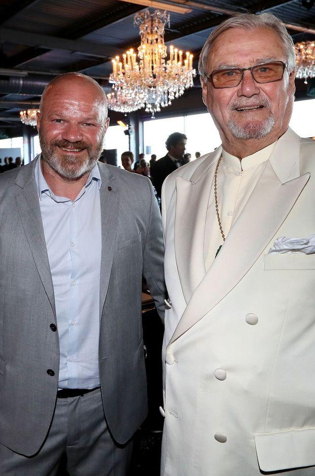 Le prince Henrik du Danemark et Philippe Etchebest à Bordeaux, le 23 juin 2016