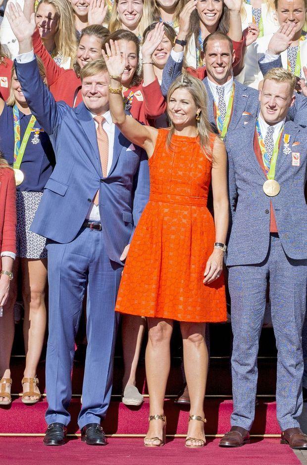 La reine Maxima et le roi Willem-Alexander des Pays-Bas à La Haye, le 24 août 2016