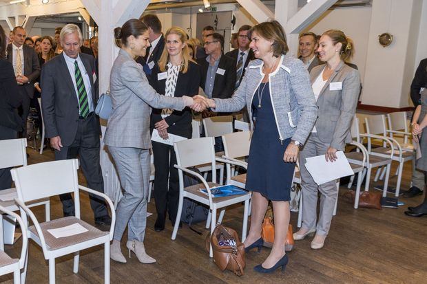 La princesse Victoria de Suède à Stockholm, le 4 octobre 2016
