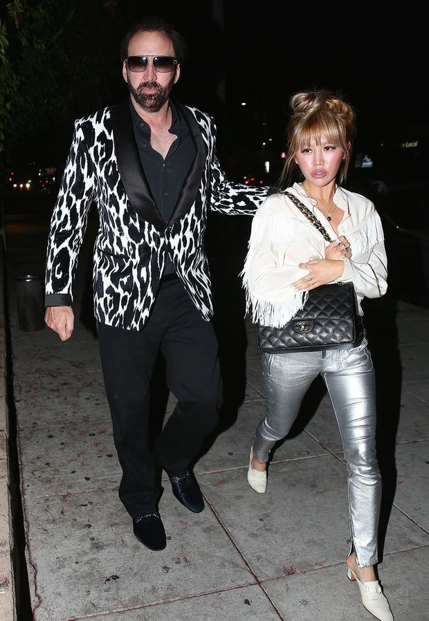 Nicolas Cage et Erika Koike en 2018