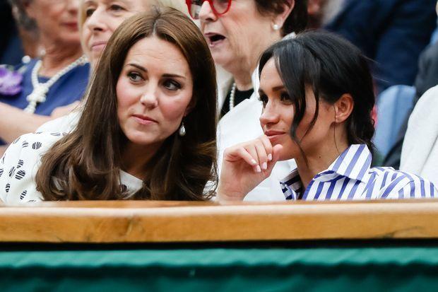 Kate Midldeton et Meghan Markle à Wimbledon en 2018