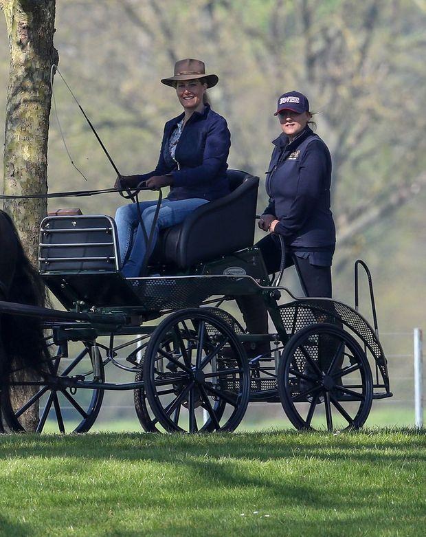 La comtesse Sophie de Wessex à Windsor, le 20 avril 2019