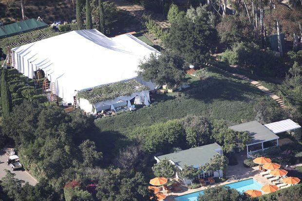 Lieu de réception du mariage de Katherine Schwarzenegger et Chris Pratt le 8 juin 2019 à Montecito
