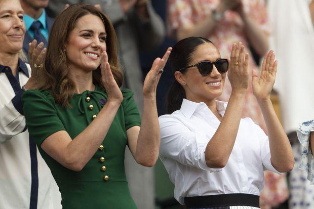 Kate Midldeton et Meghan Markle à Wimbledon en 2019