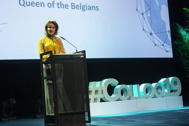 La reine des Belges Mathilde à Anvers, le 9 octobre 2019