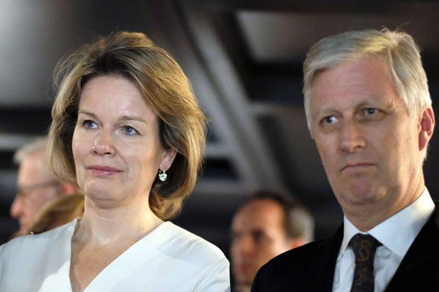 La reine Mathilde et le roi des Belges Philippe à Davos, le 22 janvier 2020