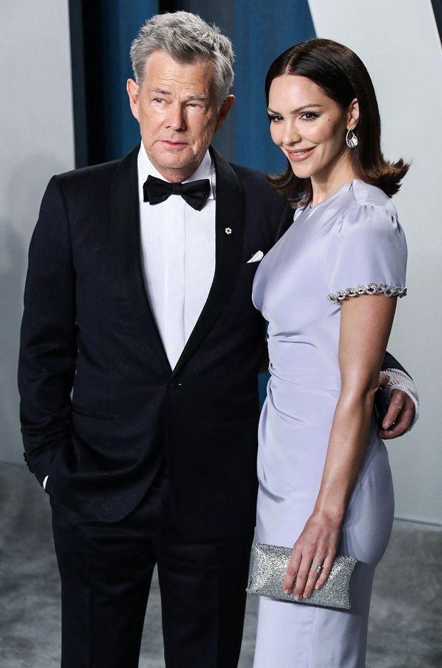 David Foster et Katharine McPhee à l'after-party des Oscars en février 2020