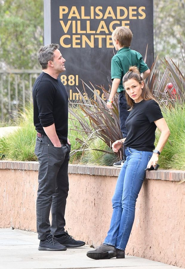Ben Affleck, Jennifer Garner et leur fils Samuel à Los Angeles le 27 février 2020