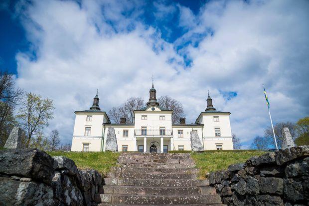 Le château de Stenhammar à Flen où sont confinés le roi Carl XVI Gustaf de Suède et la reine Silvia, le 29 avril 2020