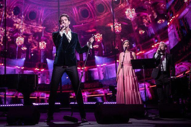 Mika lors de l'enregistrement du concert à l'Opéra Royal de Versailles en décembre 2020. L'événement est diffusé le 5 février 2021 sur France 5.