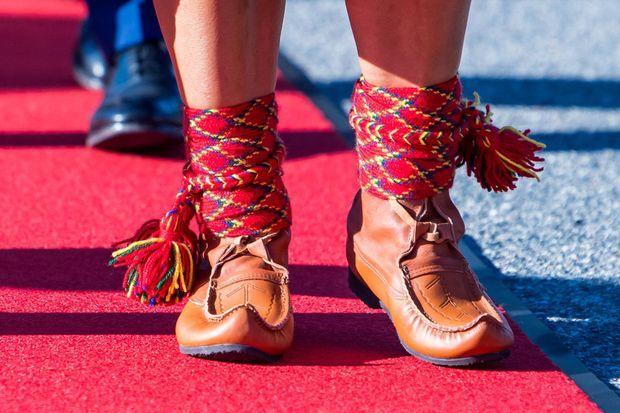 Туфли принцессы Швеции Виктории в Ликселе в Лапландии 1 сентября 2021 года.
