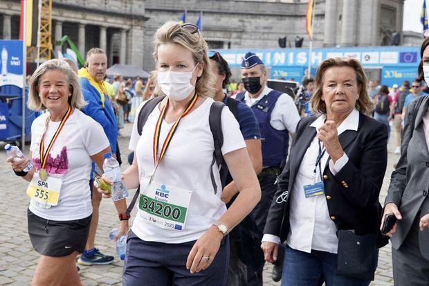 La reine des Belges Mathilde lors des 20 km de Bruxelles, le 12 septembre 2021