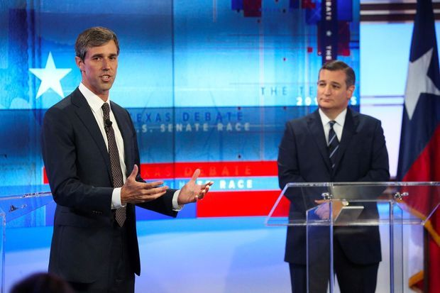 Beto O'Rourke et Ted Cruz.