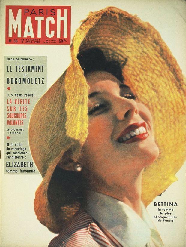 « Bettina, la femme la plus photographiée de France », titre Paris Match en avril 1950.