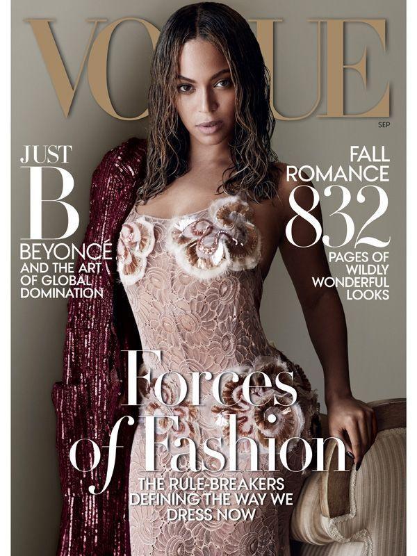 Beyoncé Knowles en Une de «Vogue».