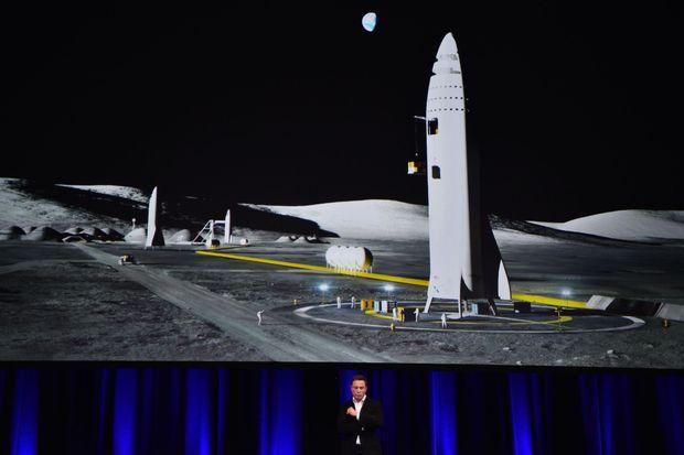 Elon Musk présente sa fusée BFR, images frappantes à l'appui, le 29 septembre dernier à Adélaïde, en Australie.