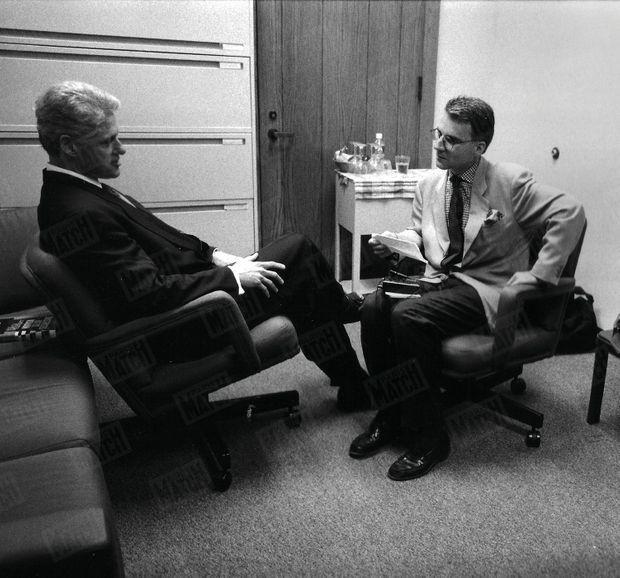 Bill Clinton et Olivier Royant, en juin 1996.