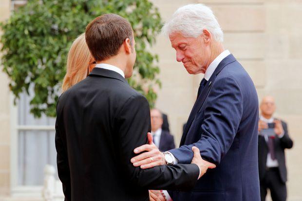 Bill Clinton, à l'Elysée.