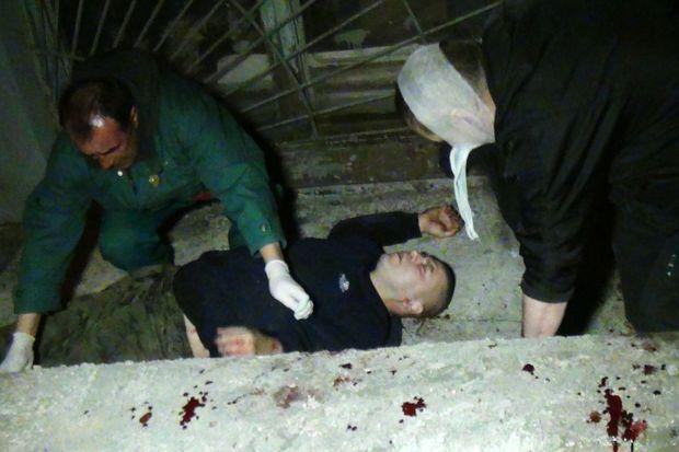 Un des blessés de l'attaque de Marioupol.