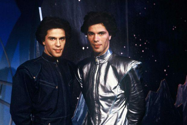 """Igor et Grichka Bogdanoff dans """"Temps X"""" en 1979."""