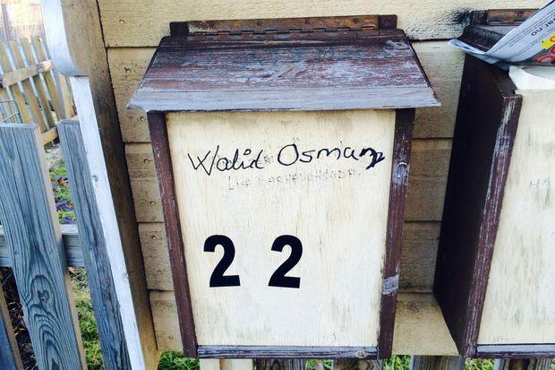La boîte aux lettres d'Osman.